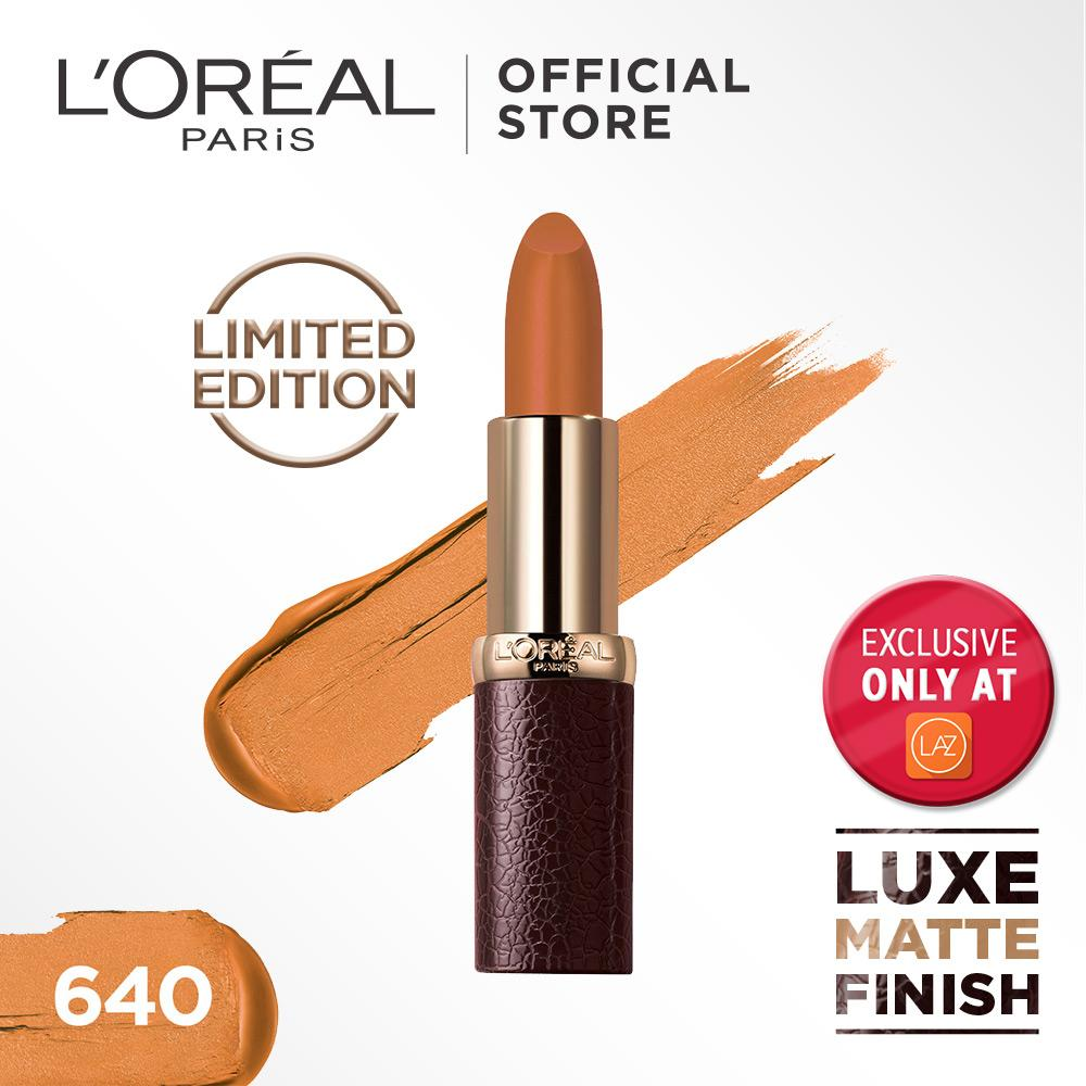 L'Oreal Paris Lipstik Matte Color Riche Luxe Leather