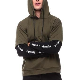 Pencarian Termurah Pria Kualitas Lengan Panjang Hooded Serut Palsu Dua Kaus Sweater-Hijau Tentara harga penawaran - Hanya Rp224.406