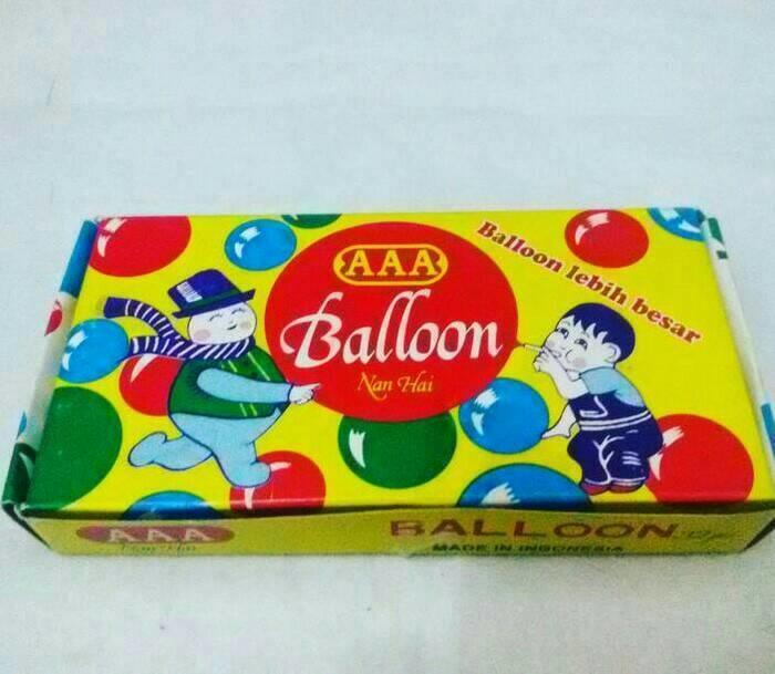 balon plembungan merk AAA yang terkenal pada jaman dulu mainan anak