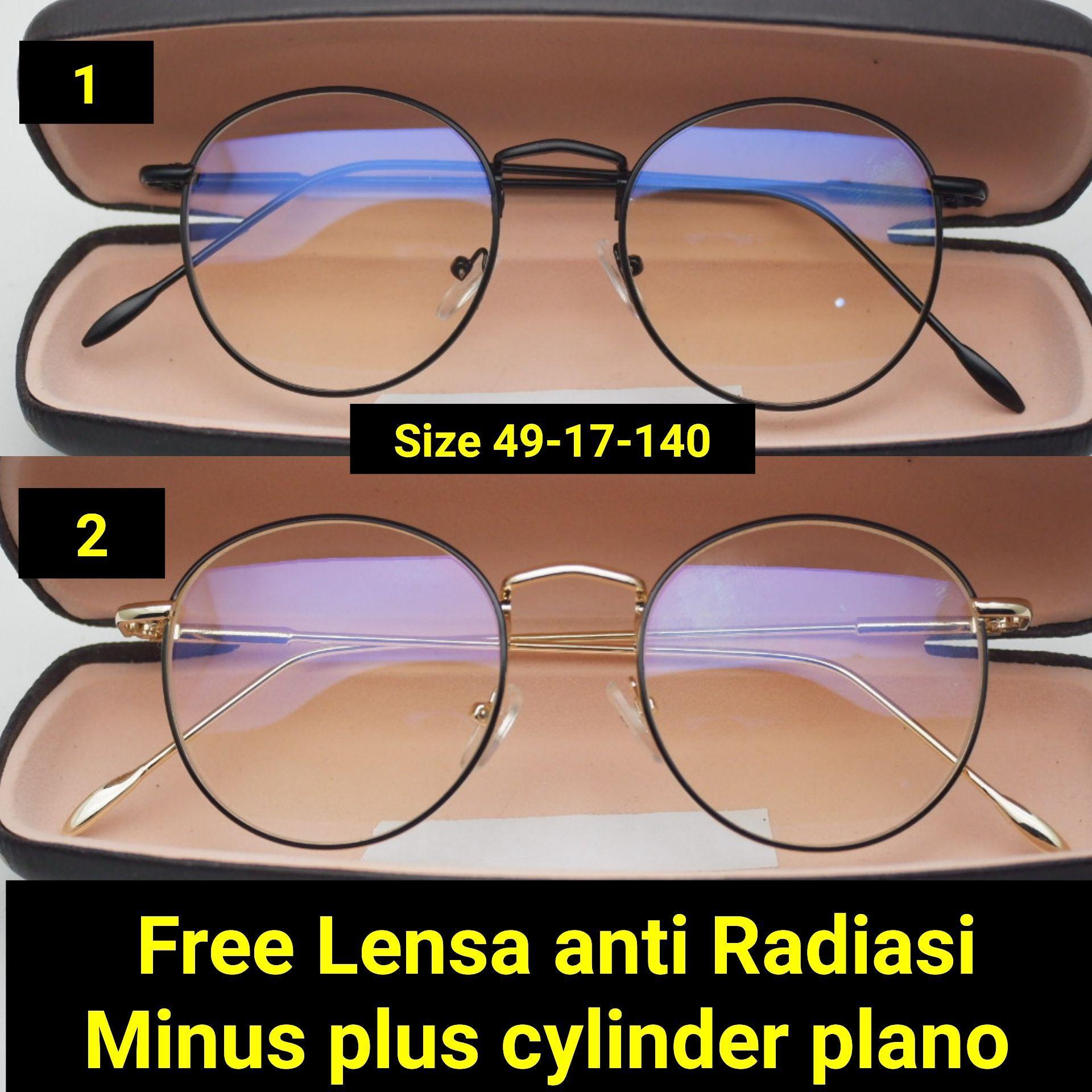 Jual Kacamata Minus Korea Vintage Kaca Mata Sperichal Frame 3213 Plus Cylinder Anti Radiasi