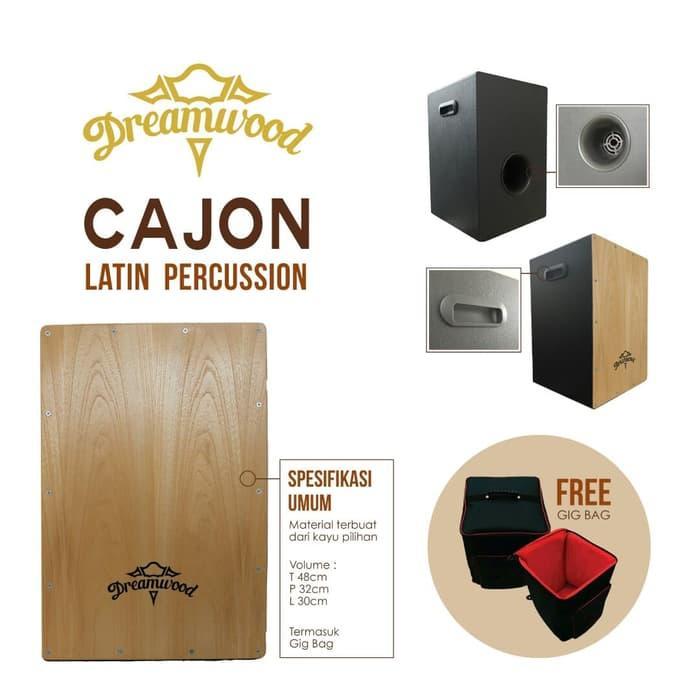 Cajon / Kajon Merk Dreamwood Premium Quality Gratis Tas Tebel K001 By Toserba Musik.