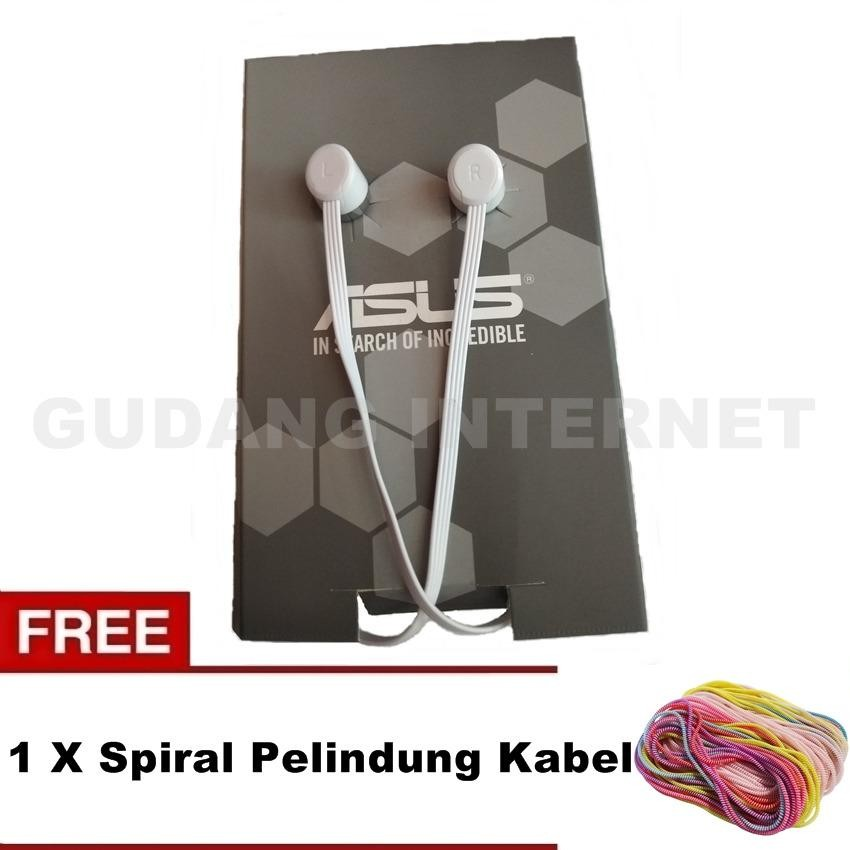 Asus Headset Handsfree Stereo High Quality For Music And Calls - Warna Random Free Spiral Pelindung