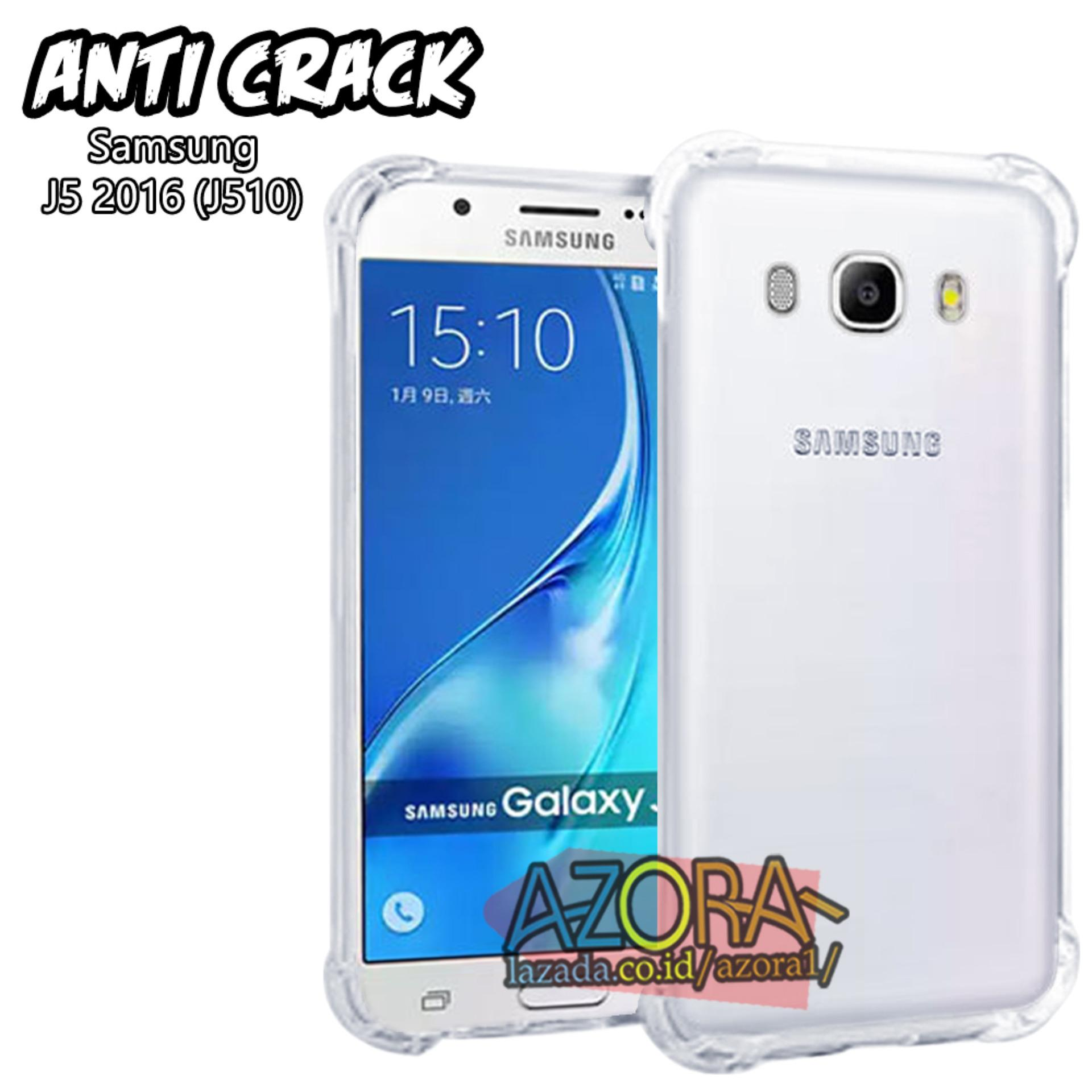 Case Anti Crack Samsung Galaxy J5 2016 J510 Ultra Thin Anti Shock Jelly Silikon Shockproof Softcase Azora - Bening