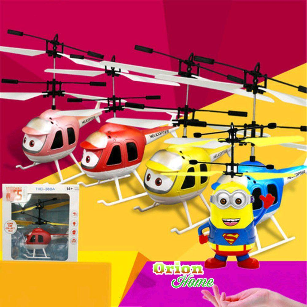 Katalog Drone Helicopter Murah Karakter Minion Sensor Helikopter Mainan Terbang Kartun Poli Lucu Hellicopter