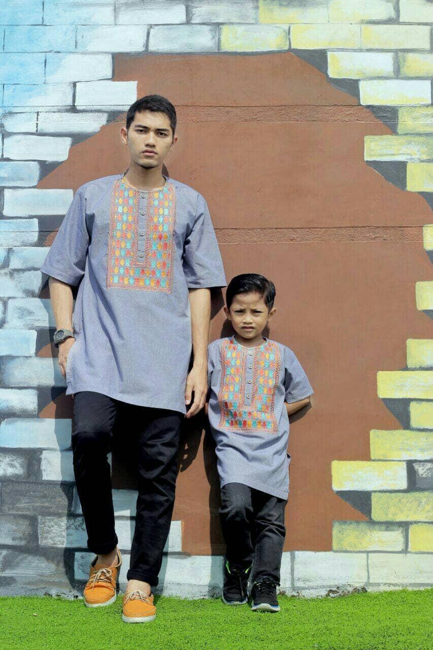 Baju Koko Couple Ayah dan Anak Kurta Hanif by Al Haramain