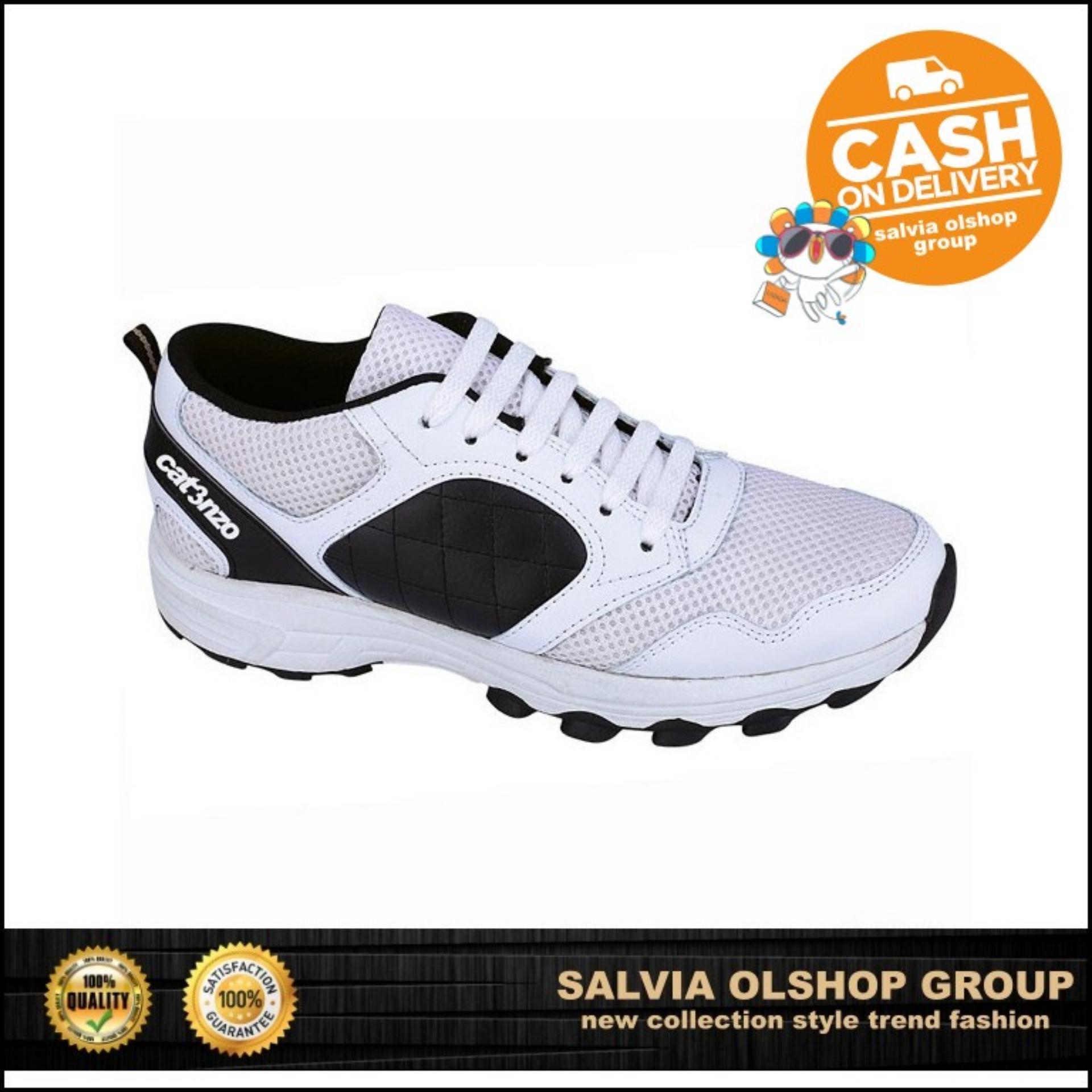 Catenzo Sepatu Sport / Lari Pria keren Dan Modis TF 138 - Putih