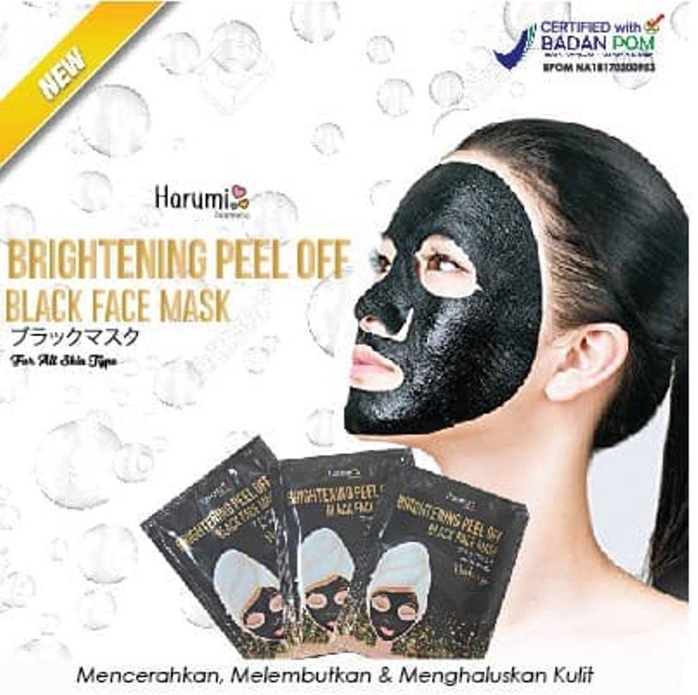 [BPOM] HARUMI BLACK FACE MASK - MASKER LUMPUR WAJAH/ Masker Mineral/ Masker