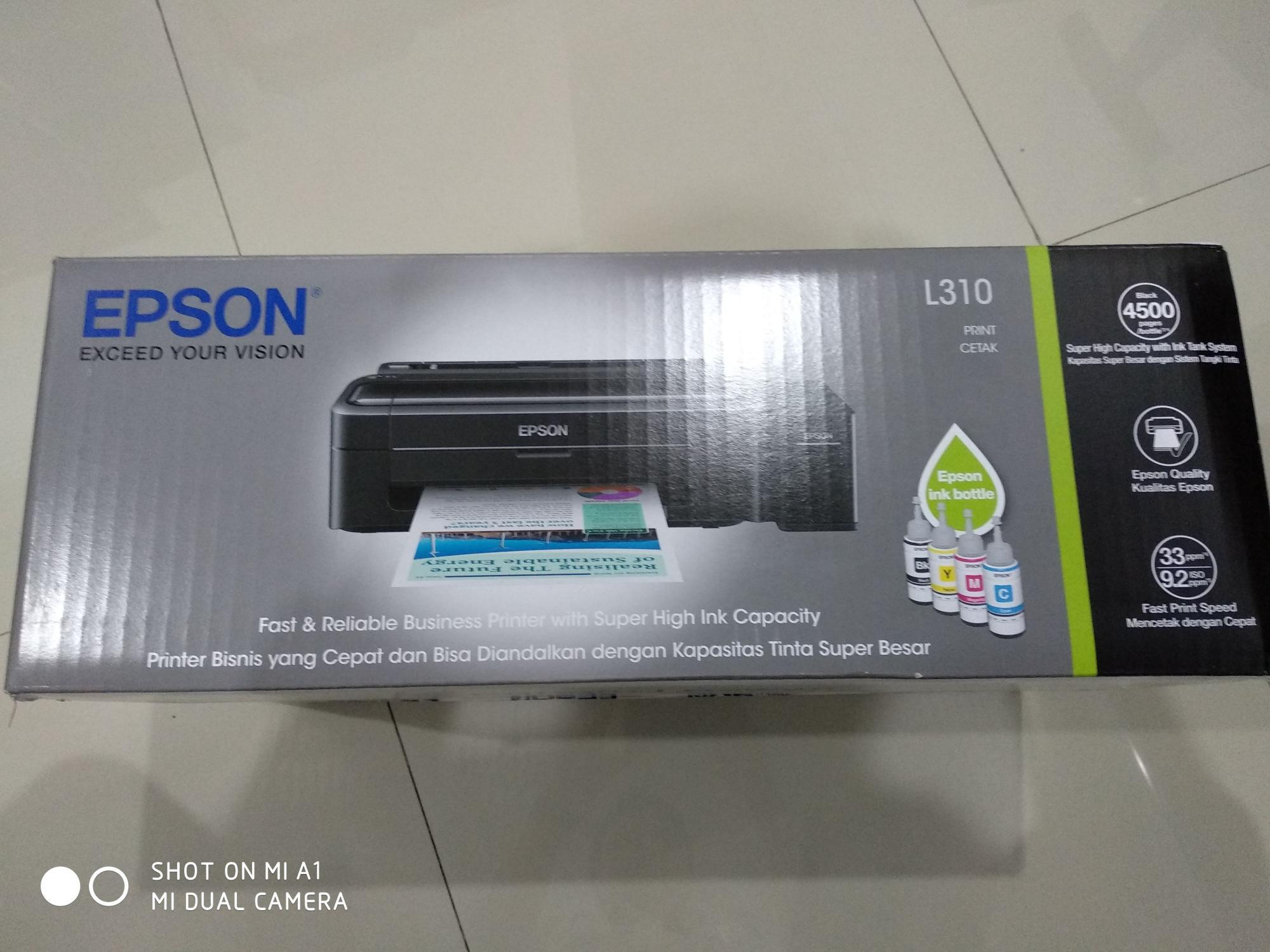 Harga Printer Epson L310 Bekas Terkini Online Murah 2018 Grosir L 310