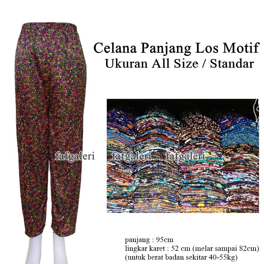 Celana Panjang Motif Model Los All SIze Celana Santai  - Celana Panjang Anak Remaja Dewasa Celamis Celana Dalama Gamis Busana Muslim Muslimah