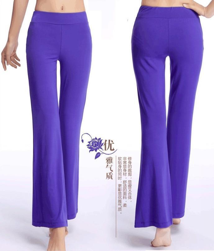 Lebar Kaki Olahraga Celana Wanita Kualitas Tinggi Pinggang Peregangan Perban Celana Refleksi Cahaya Kaki Yang Luas ...