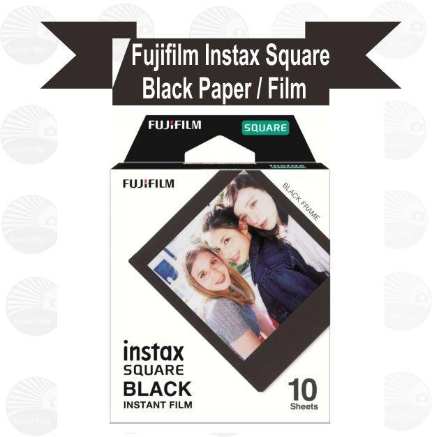 1 Pack Fujifilm Instax Square Film / Paper Black Frame
