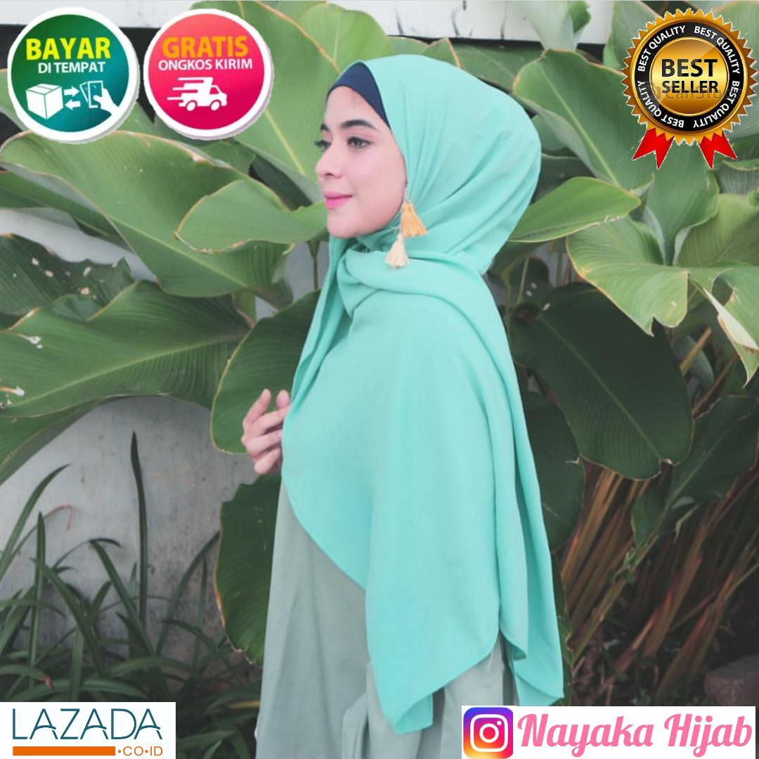Kerudung Pasmina / Jilbab Pasmina / jilbab lebaran / Hijab Pasmina Polos Basic Panjang / Jilbab Murah Diamond Italians / Diamond Crepe