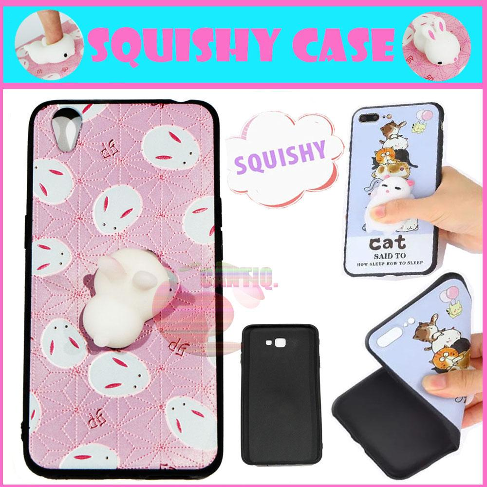Icantiq Squishy Case Oppo Neo 9 A37 Squishy Cute Rabbit White / Silikon 3D Squeeze Oppo