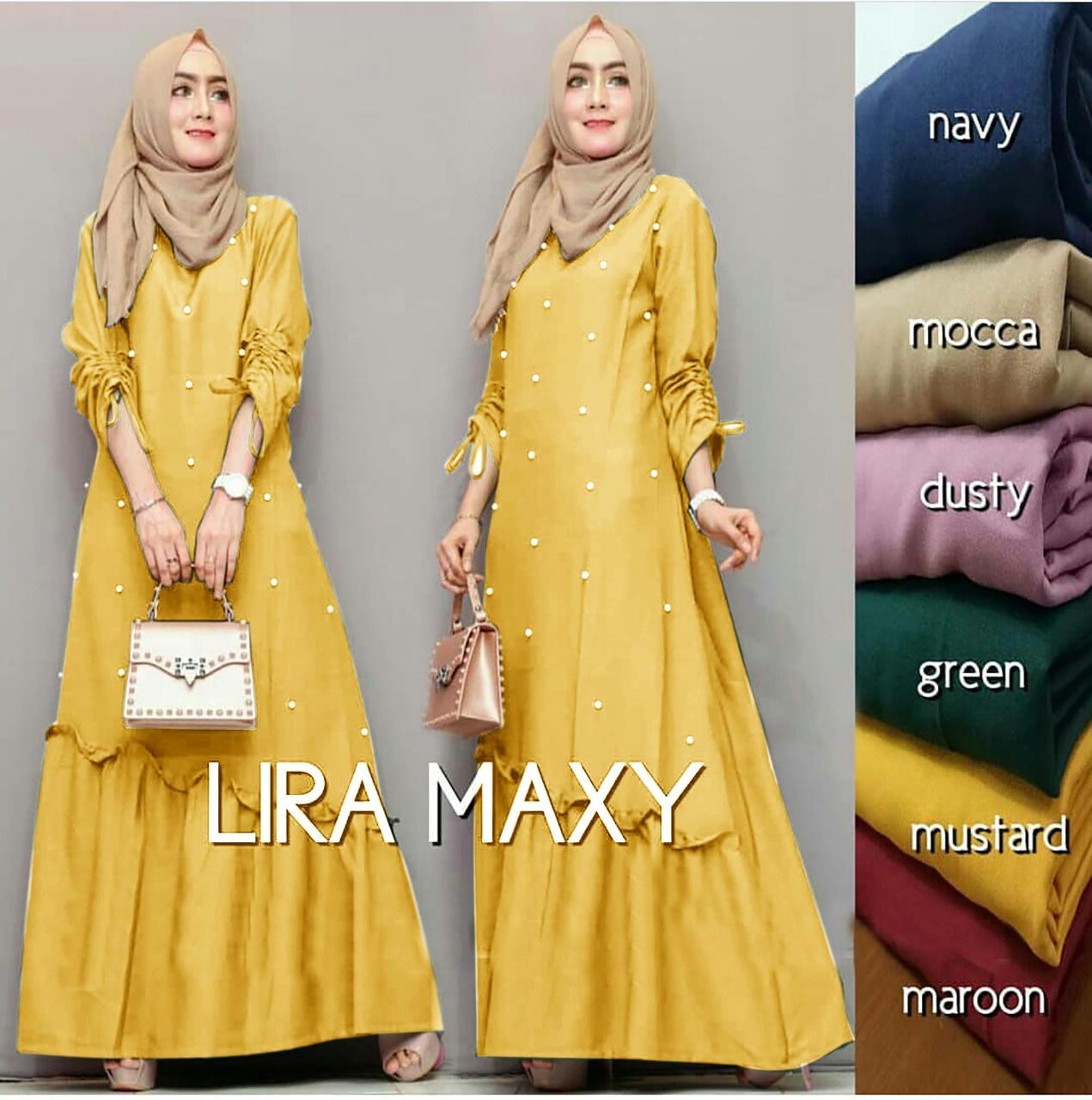 MAXI DRESS BALOTELY MUSLIMAH / GAMIS MAXI DRESS MURAH LYRA WARNA MUSTARD ( TANPA PASMINA)