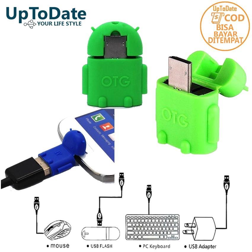 USB OTG Micro UPTODATE Otg android micro Mini OTG usb micro Converter Bentuk Robot Android -
