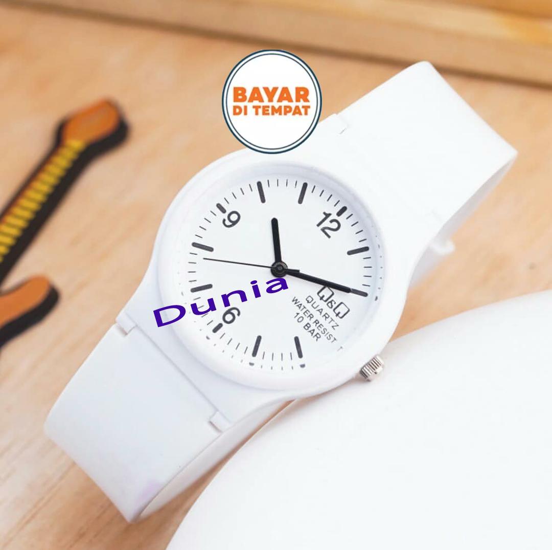 Q&Q Jam Tangan Fashion Wanita/Pria QQ/QnQ Resin Analog - Rubber Strap Karet