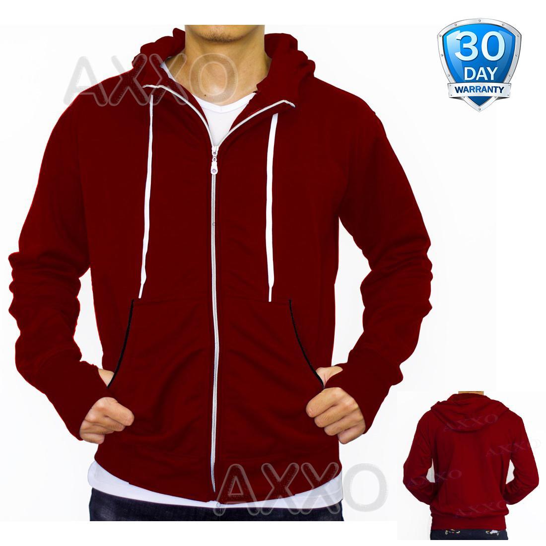 Jual Jaket Pria Terbaru Cardigan Keren Modis Fleece Merah Maroon Car 623