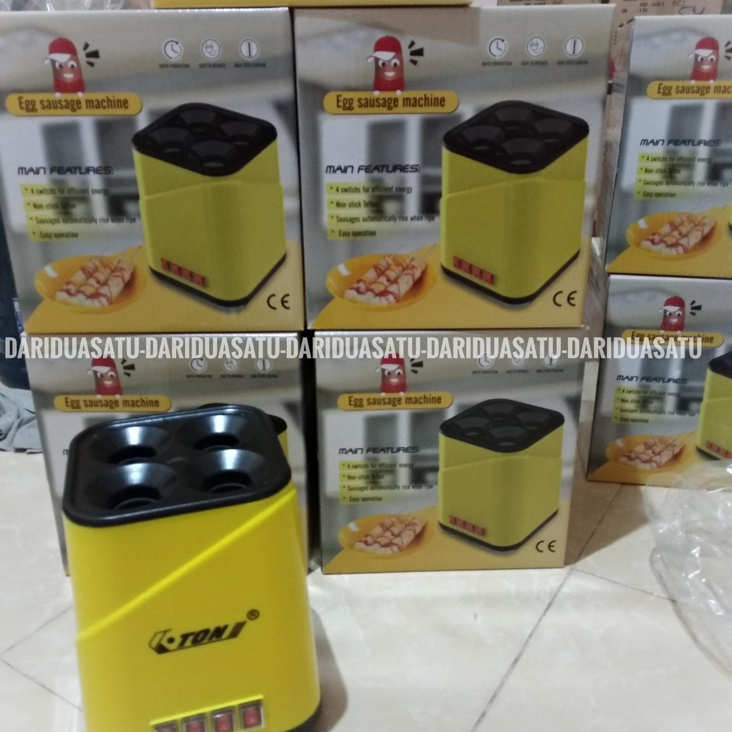 Buy Sell Cheapest Sostel Ready Mesin Best Quality Product Deals Alat Sosis Telur 4 Lubang Lobang Egg Roll Pembuat