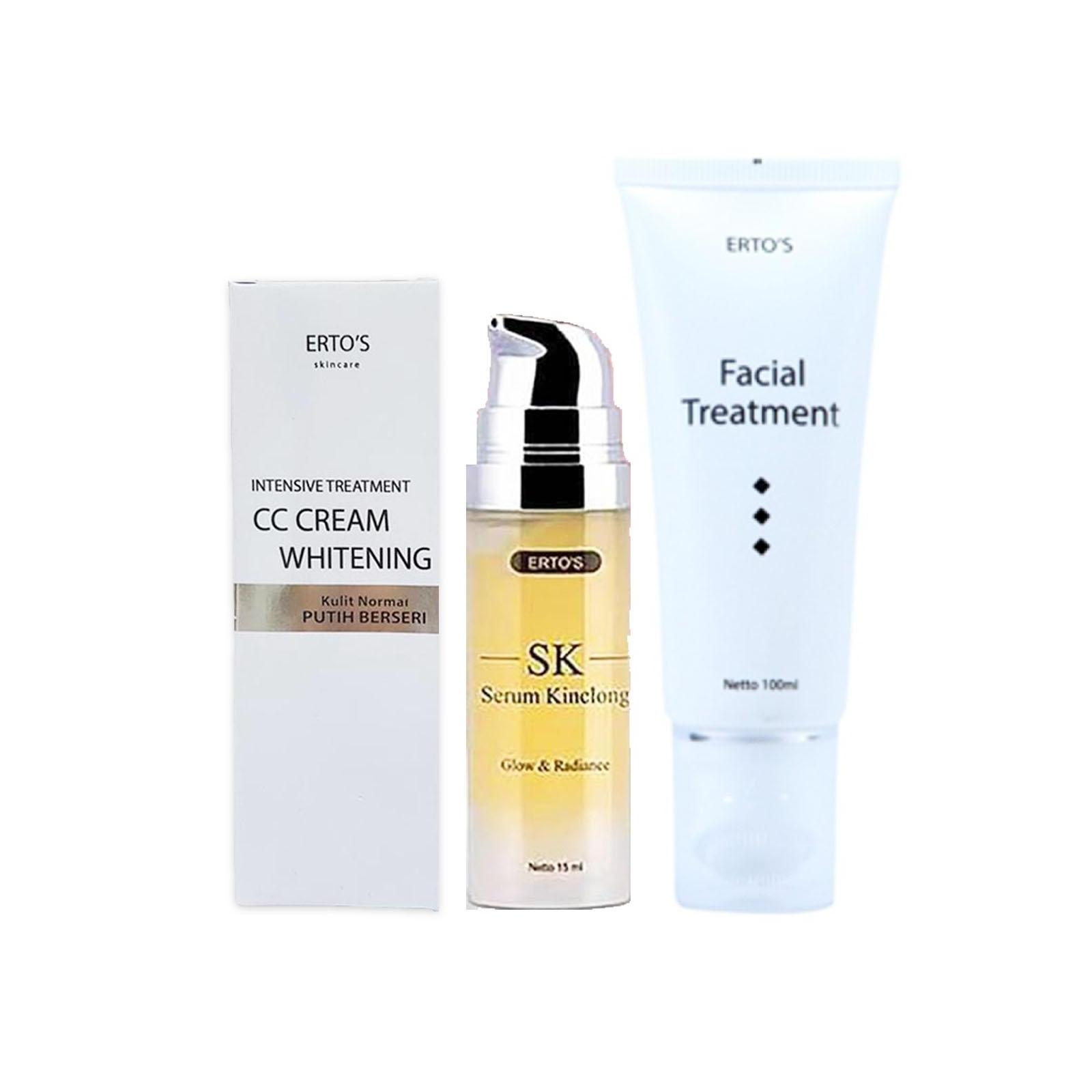 Buy Sell Cheapest Paket Ertos Glowing Best Quality Product Deals Serum Kinclong 2 Super Facial Treatment Cc Cream Whitening
