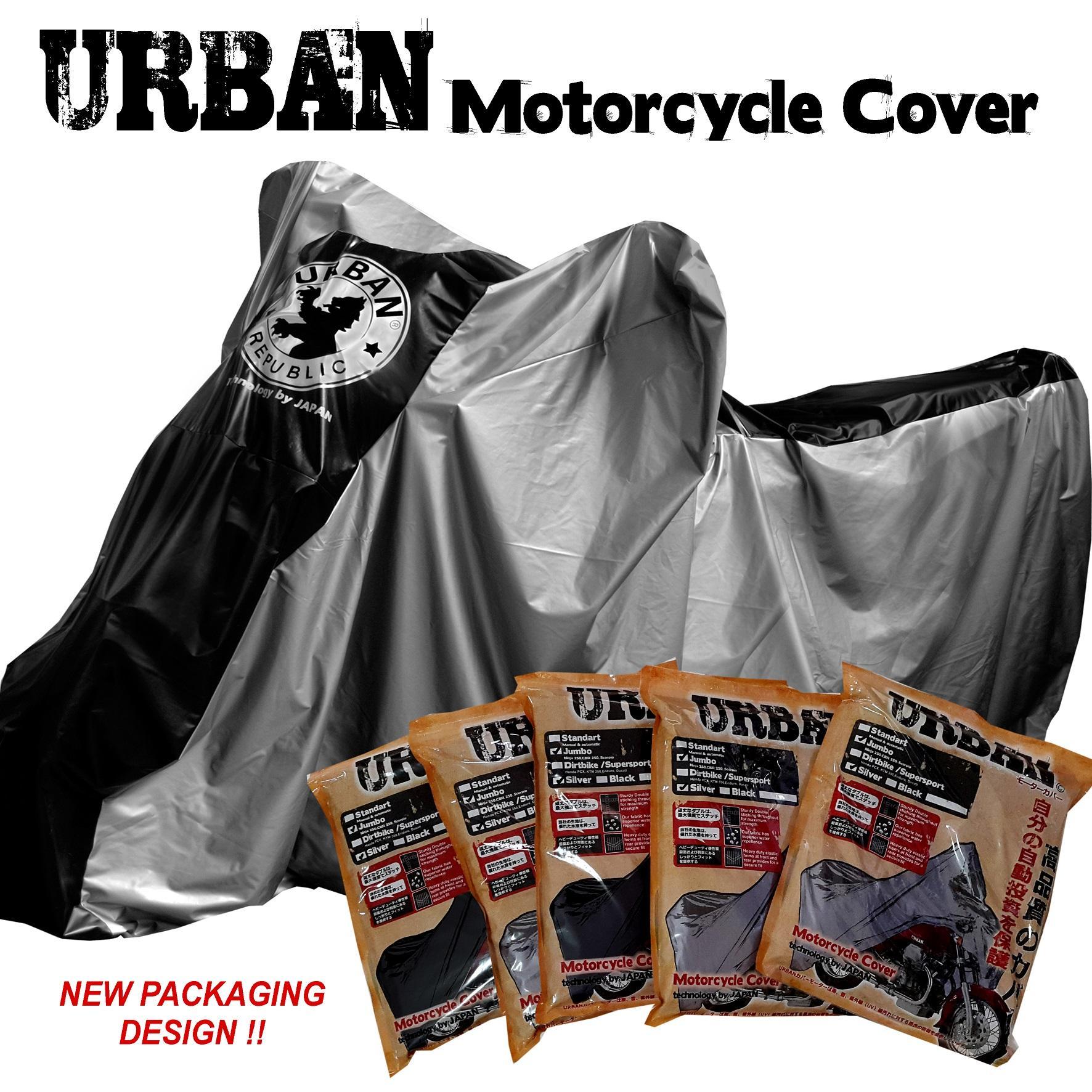Urban Cover Sarung Motor Bebek / Sarung Cover Motor Matic Ukuran Small Mio, Scoopy, Vario, Supra, Satria Fu, Yamaha Jupiter By Cassie Store.