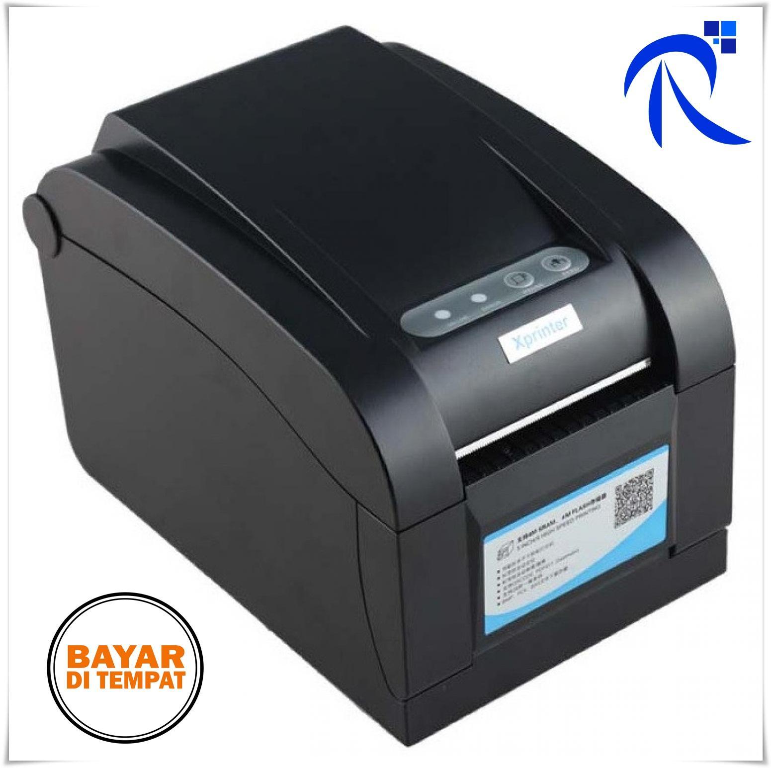 Xprinter Thermal Barcode Printer - XP-350B Hitam Black Kertas Label Stiker Sticker Tingkat Panas Print Printing Cepat Excellent Quality