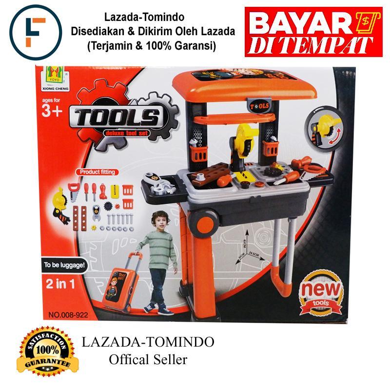 Tomindo Mainan Anak Deluxe Tool Set 008-922 / Mainan Anak Laki Laki / Mainan Alat Tukang By Tomindo.