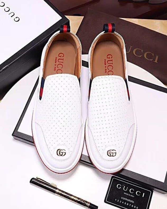 PROMO!!! Sepatu Slip On Branded Kw Gucci Casual Shoes Mirror 1:1 Ori Import