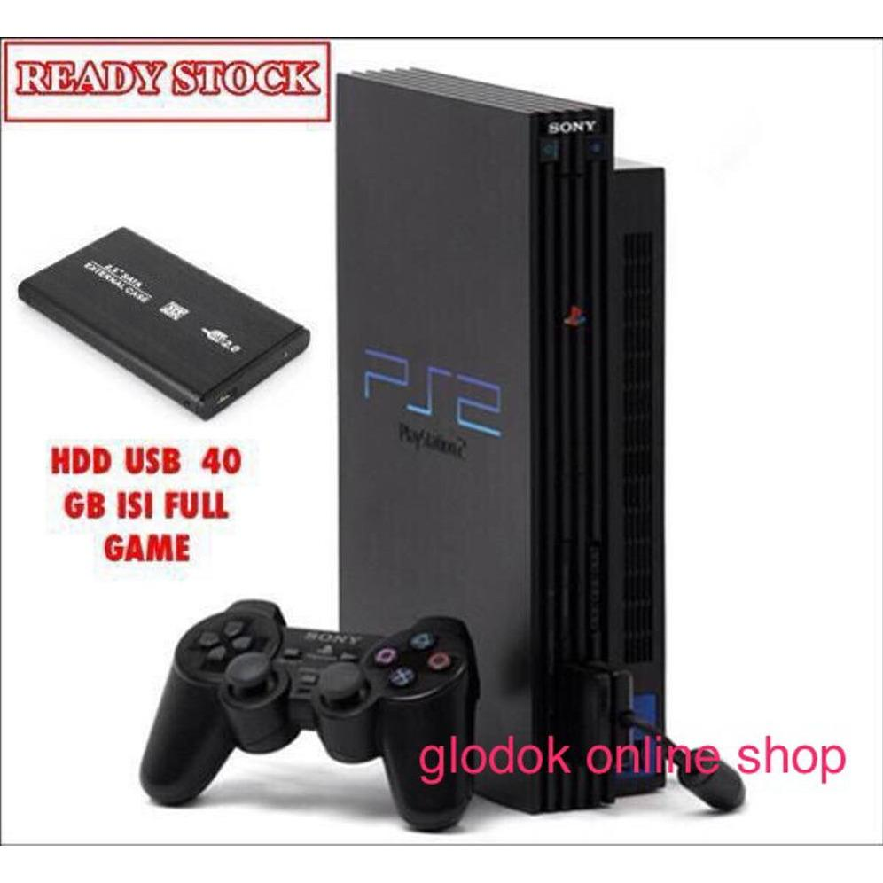 playstation2 .ps2 fat hardisk 40gb ekternal paket lengkap