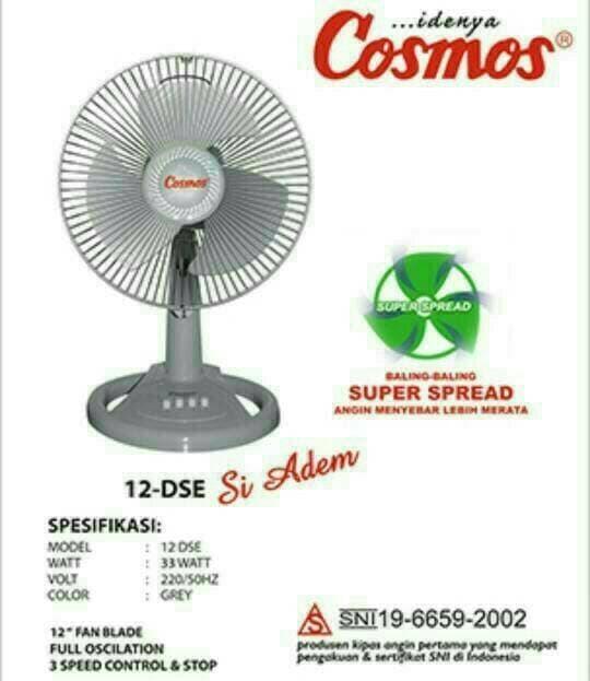 PROMO MURAH - COSMOS - Desk Fan / Kipas Meja 12-DSE