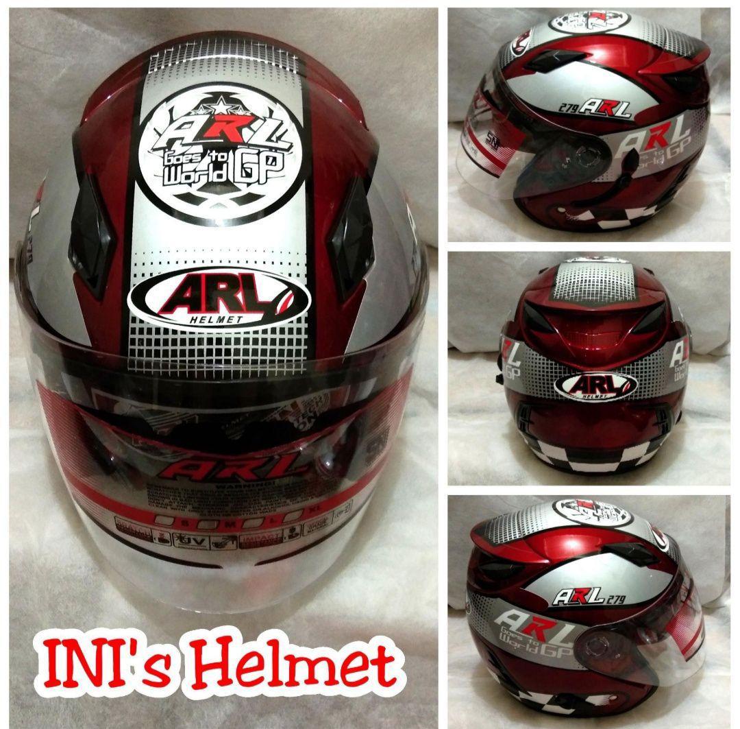 Helm Half Face Murah - Double Visor - SNI - ARL Moto GP