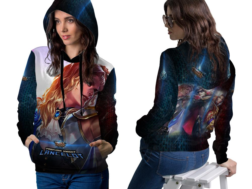 [Fikastore] Jaket Hoodie Sweater Wanita Mobile Legends LANCELOT Parfume Knight 3D Full Print Sublim