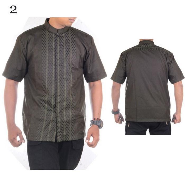 Mila Style - Baju Koko Bordir Al Madani Pendek Seri #2 - Eksklusif - Multicolor