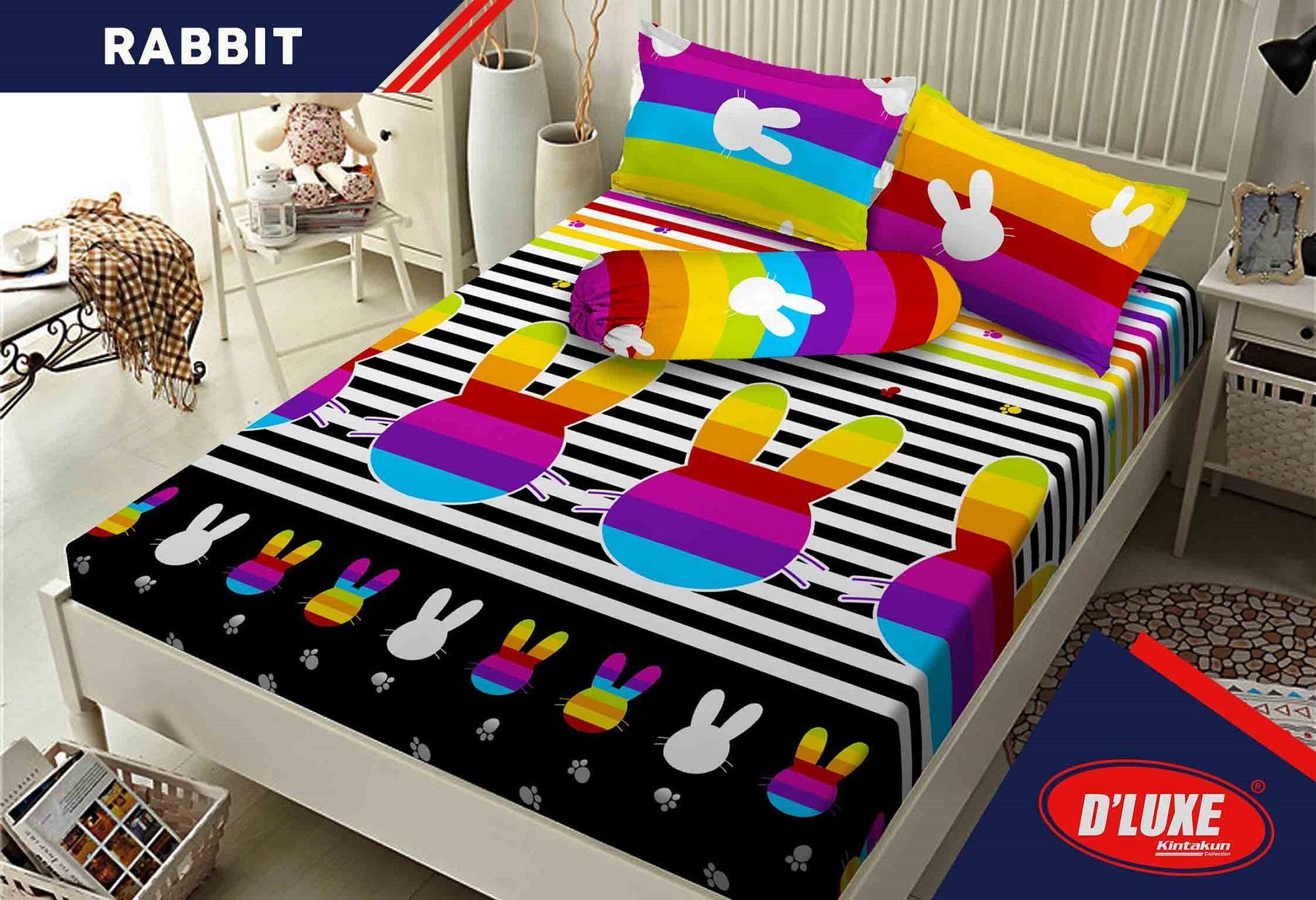 Bed Set Peralatan Ranjang Terbaik Sprei Katun Import  Uk 120x200 Single 452 Kintakun Kids Edition Cm New Rabbit