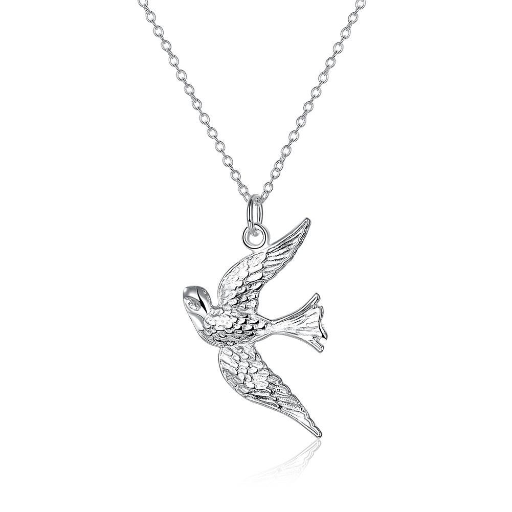 Kalung Burung 18 inch mode Burung Liontin Perhiasan Perak Rolo Kalung N151 LKNSPCN151