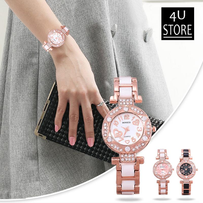 Bonico-Jam Tangan Fashion Wanita-83010-Imitation Ceramic Band - 4U-Store