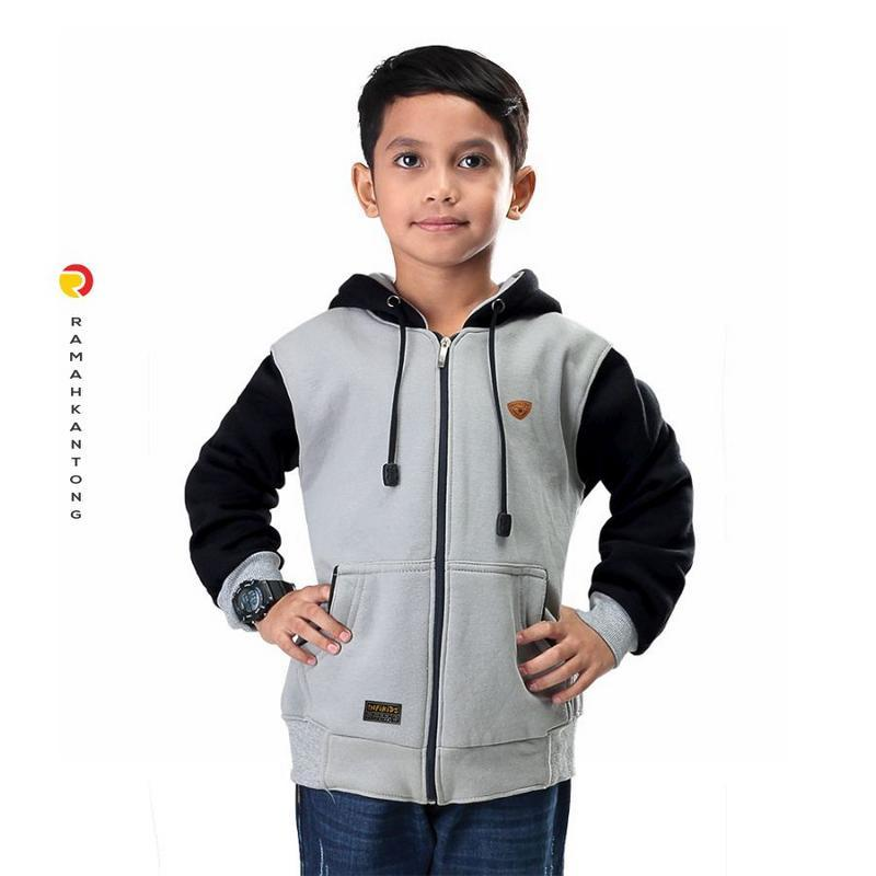 INFIKIDS Jaket Anak Laki Laki Umur 6 - 12 Tahun IBR 435-182 Abu