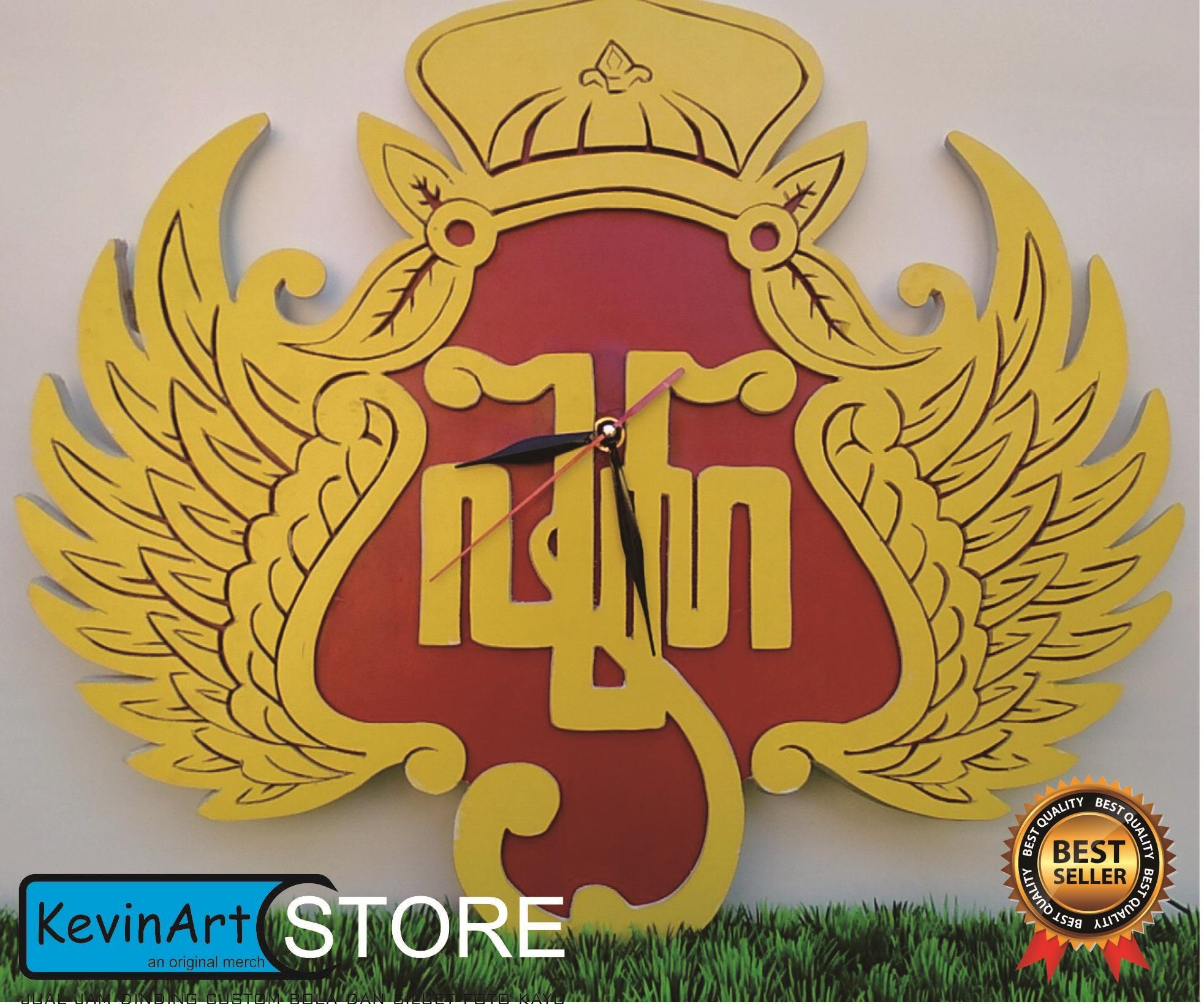 Jam dinding custom  kayu 3D unik besar logo KRATON YOGYAKARTA