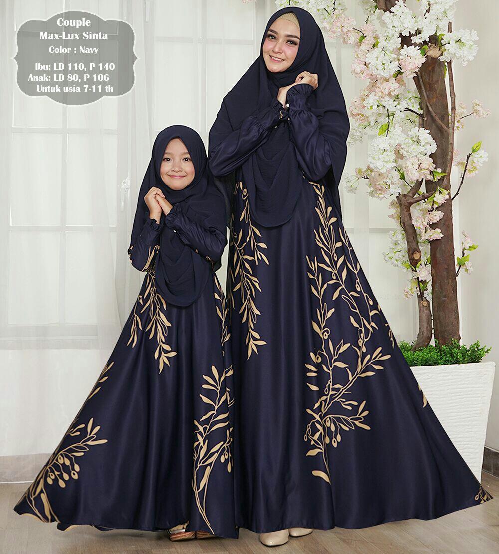 Humaira99 Gamis Syari Couple Ibu Anak Muslim Dress Hijab Muslimah Atasan Wanita Maxmara Lux Rebeca Yuanda