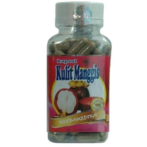 1 Botol Herbal Capsul Kulit Manggis 120 Kapsul Kulit Manggis