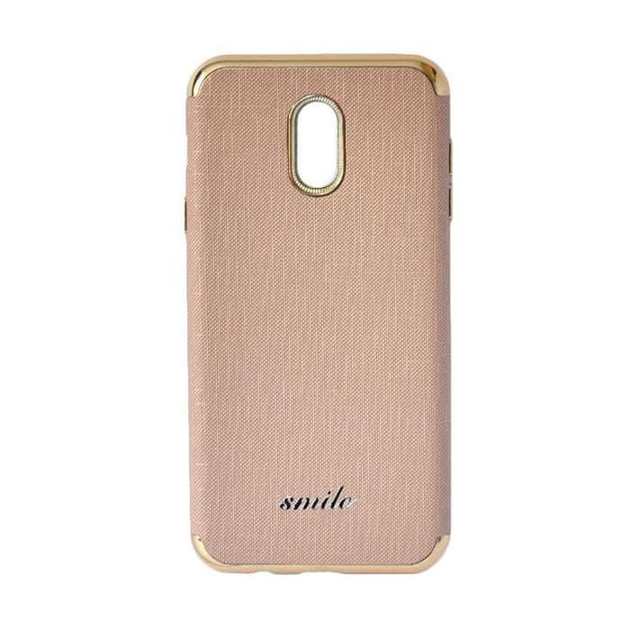 Smile Softcase Silkwood Denim Case 3in1 Oppo F3 - Rose Gold