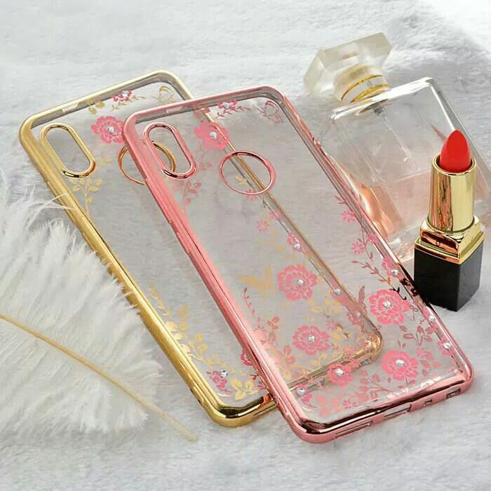 Best Seller - TPU Flower Case Xiaomi Redmi S2 Sofecase Casing Cover Bunga Transparan - Casing HP Terlaris Dan Terbaru