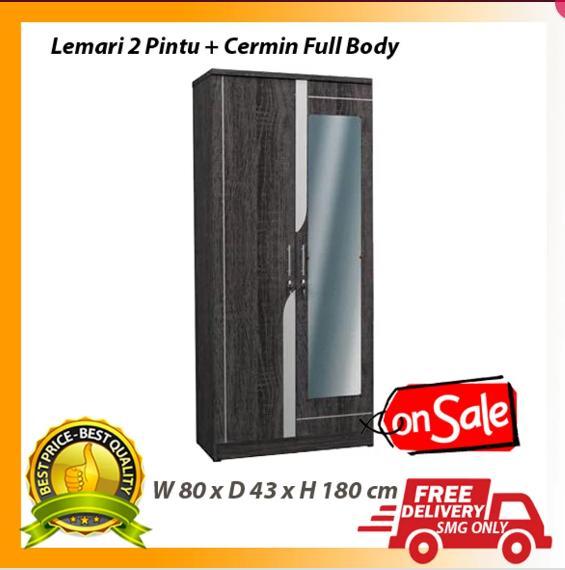 Lemari 2P Partikel 2 Pintu Dan Cermin Full Body
