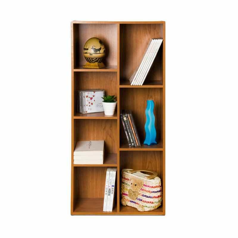 FUNIKA 13227 Rak Buku - Coklat Tua [7 Kotak] - JABODETABEK
