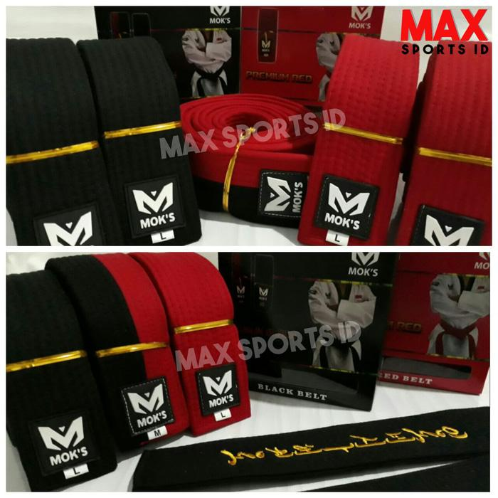 ASLI!!! Sabuk Taekwondo Moks Premium Merah, Junior (Poom) dan Senior (Hitam) - vKrAyN