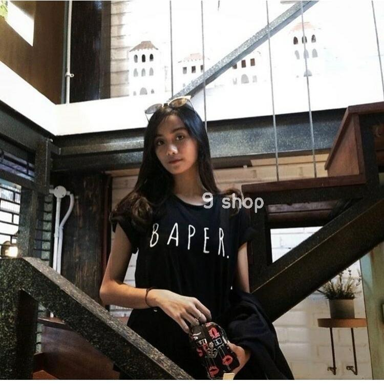 9 Shop Kaos Cewek Tumblr Tee BAPER /Kaos Wanita /T-shirt Wanita /Kaos Lengan Pendek /Kaos Wanita Murah/Kaos Tulisan/Atasan Wanita/Kaos Santai/Baju Wanita Murah/Baju Santai/Baju Remaja//Kaos Remaja/Kaos Tumbler