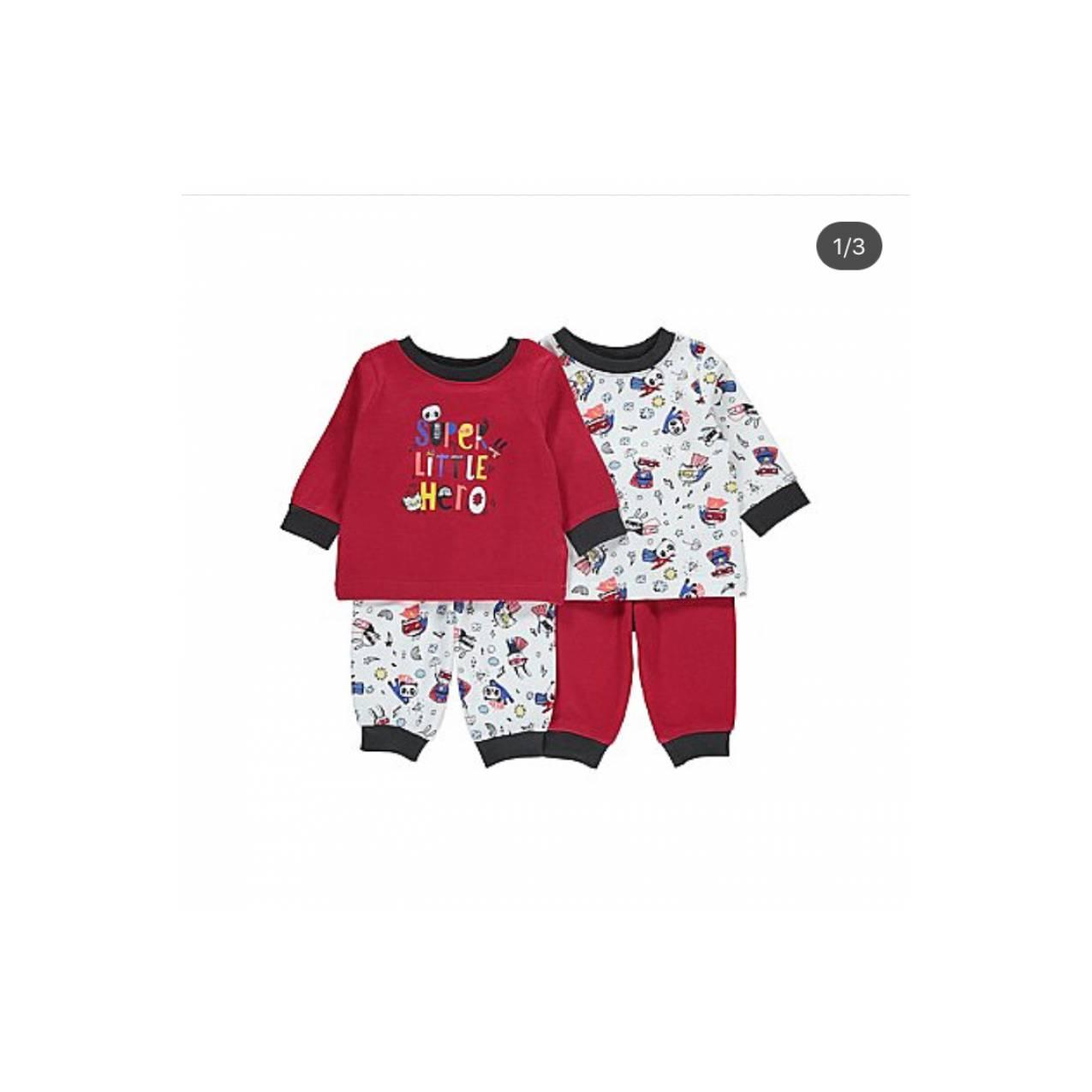 2set piyama Superhero import Inggris | baju tidur anak cowok premium