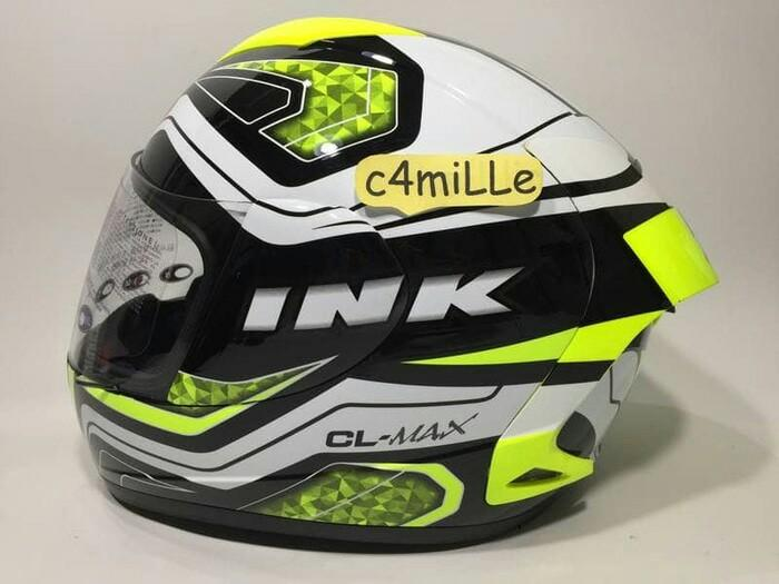 Helm INK Cl Max White Yellow Full Face