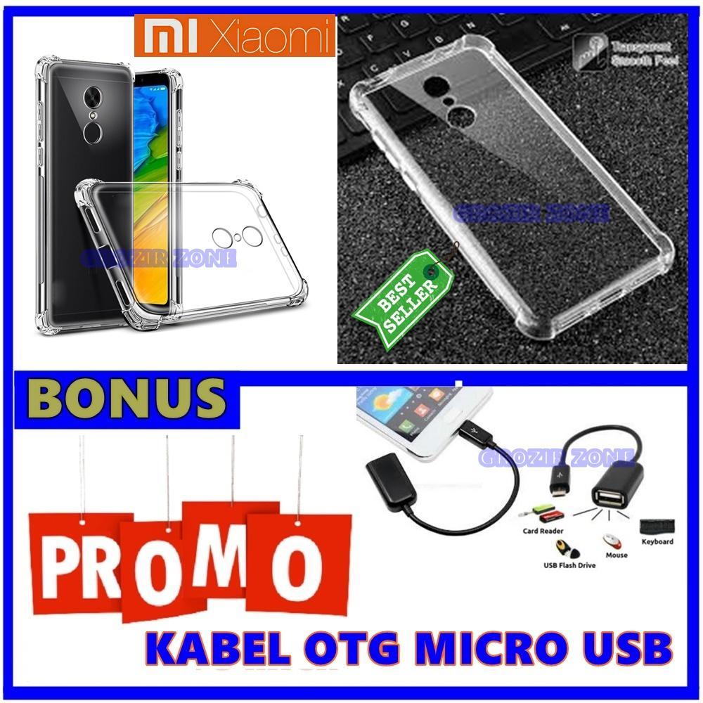 Back Case Soft Jacket / Anti Crack Xiaomi Redmi 5 - Bahan Lebih Bagus + Gratis Kabel Otg MIcro Usb ( Grozir zone )