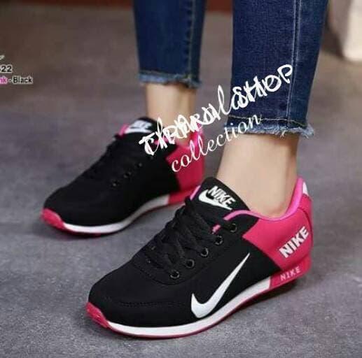 Sepatu wanita sneakers/Sepatu wanita flat/Sepatu wanita wedges/Sepatu wanita heels/Sepatu wanita murah/Sepatu wanita kickers/Sepatu wanita import KETS SPON NIKE HITAM FANTA NEW02