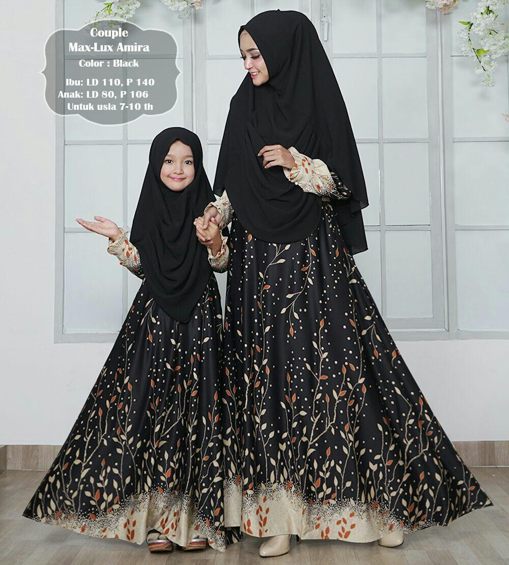 Humaira99 Gamis Syari Muslim Couple Ibu dan Anak Dress Hijab Atasan Wanita Maxmara Marsya